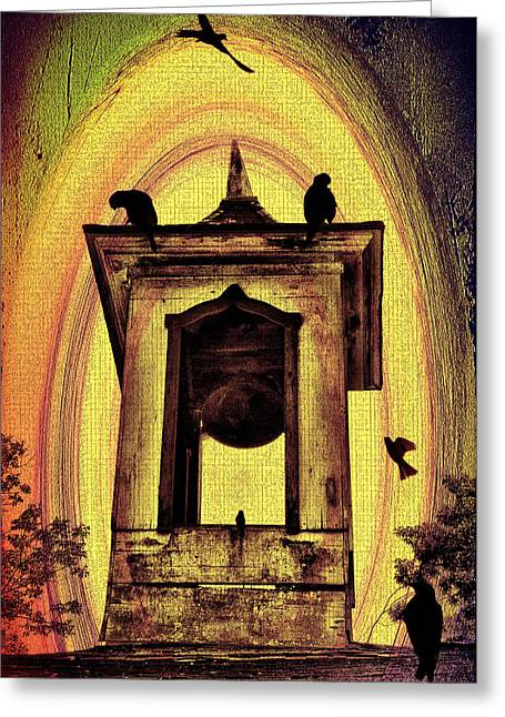 For Whom The Bell Tolls Greeting Card by Bill Cannon