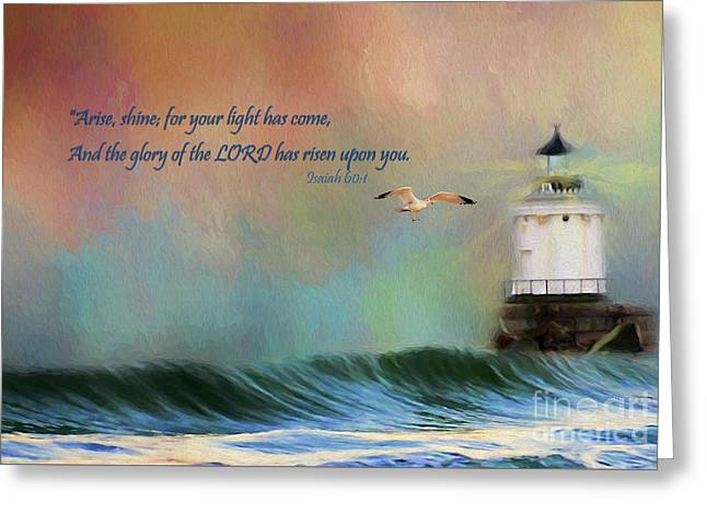 For Your Light Has Come Greeting Card