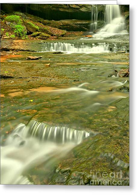 Forbes Cave Falls Greeting Card