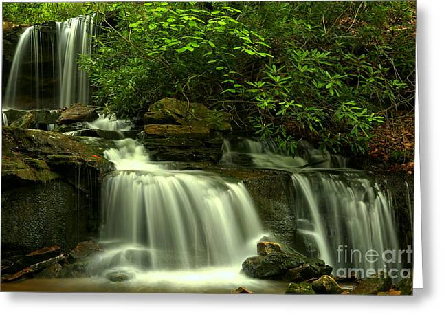 Forbes State Forest Waterfall Greeting Card by Adam Jewell
