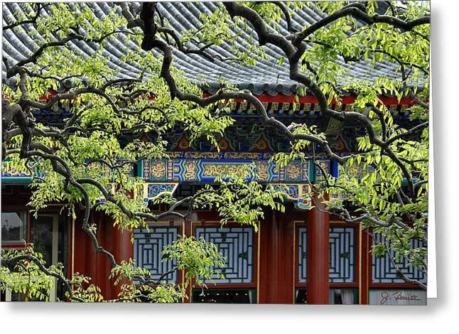 Forbidden City Serenity Greeting Card by Joe Bonita