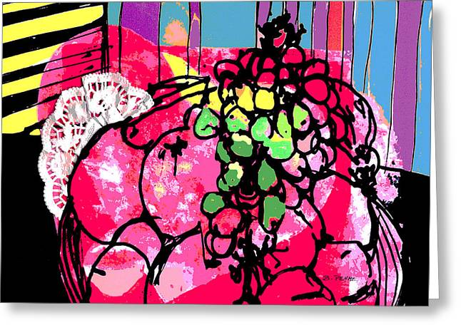 Forbidden Fruit Greeting Card by Betty Pehme