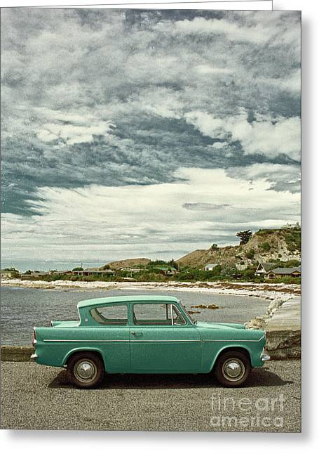 Ford Anglia In New Zealand Greeting Card