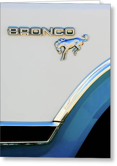 Ford Bronco Emblem Greeting Card by Jill Reger
