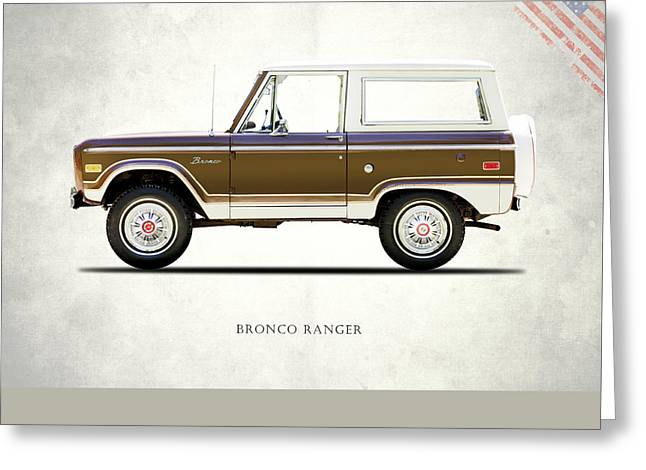 Ford Bronco Ranger 1976 Greeting Card by Mark Rogan