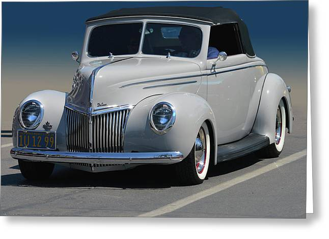 Greeting Card featuring the photograph Ford Deluxe Convertible by Bill Dutting