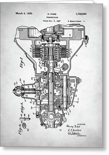 Ford Engine Patent Greeting Card