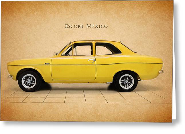 Ford Escort Mexico Greeting Card by Mark Rogan