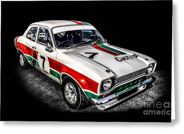 Ford Escort Sport Greeting Card by Graham Beerling
