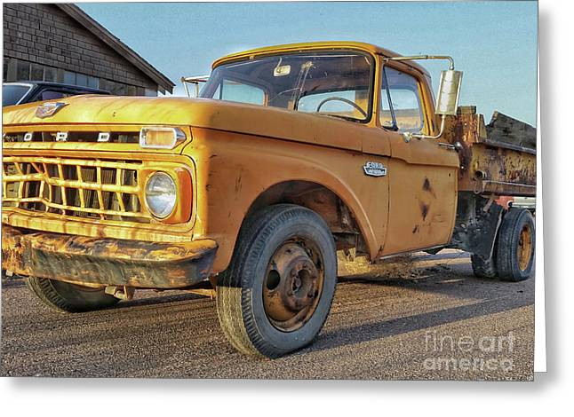 Ford F-150 Dump Truck Greeting Card