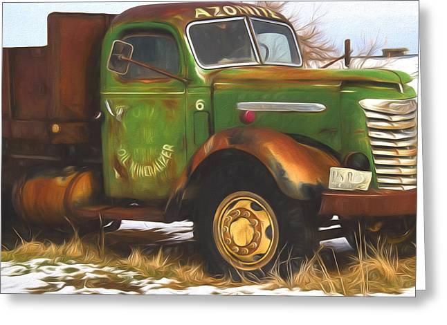 Ford Farm Truck Painterly Impressions Greeting Card