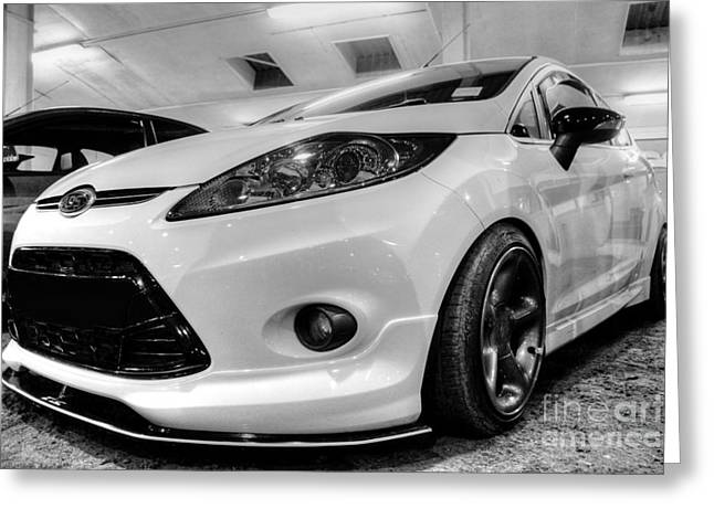 Ford Fiesta In Hdr Greeting Card by Vicki Spindler