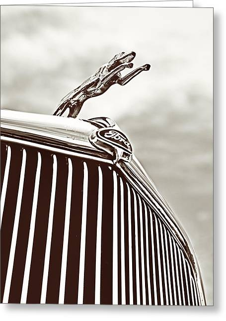 Greeting Card featuring the photograph Ford Greyhound by Caitlyn Grasso
