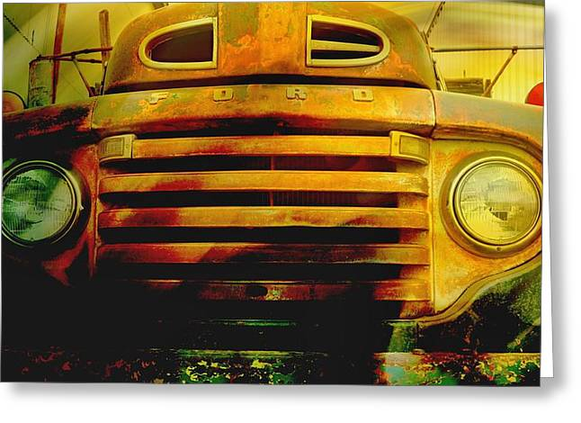 Ford Grill Greeting Card