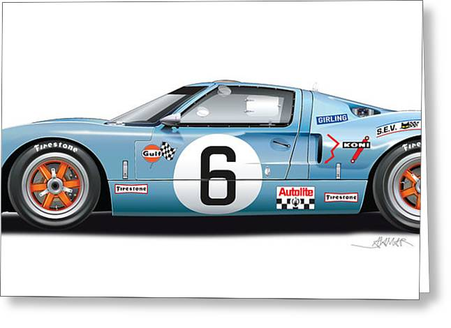 Ford Gt 40 1969 Greeting Card by Alain Jamar