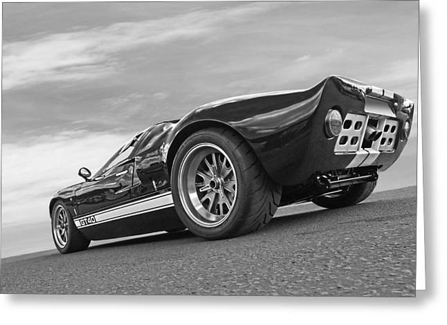 Ford Gt 40 In Black And White Greeting Card by Gill Billington