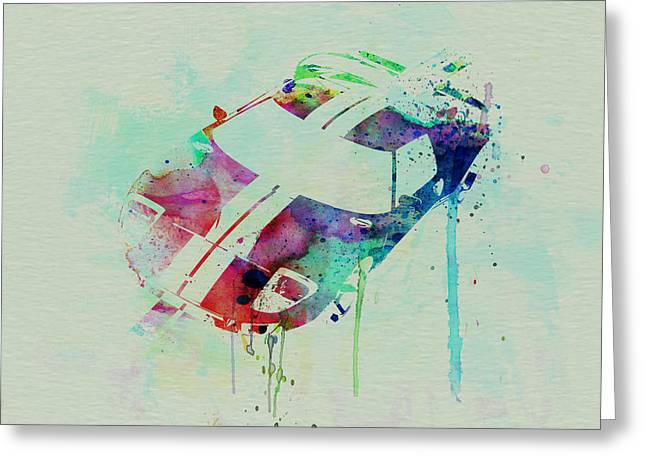 Ford Gt Top Watercolor  Greeting Card by Naxart Studio