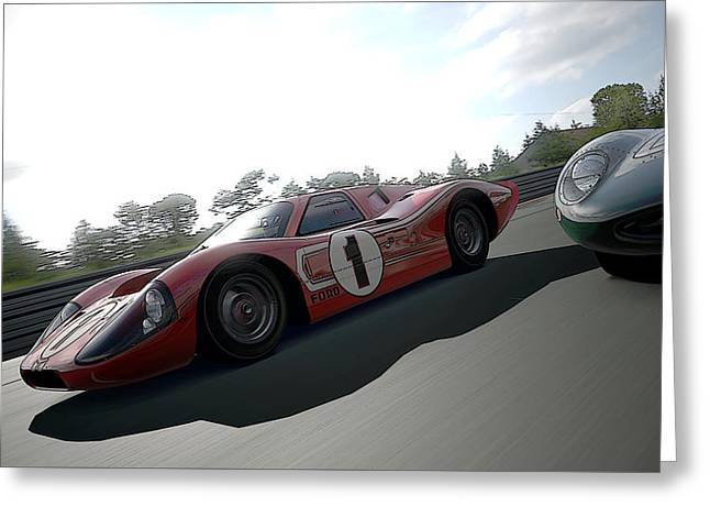 Ford Gt40 Mark Iv Greeting Card