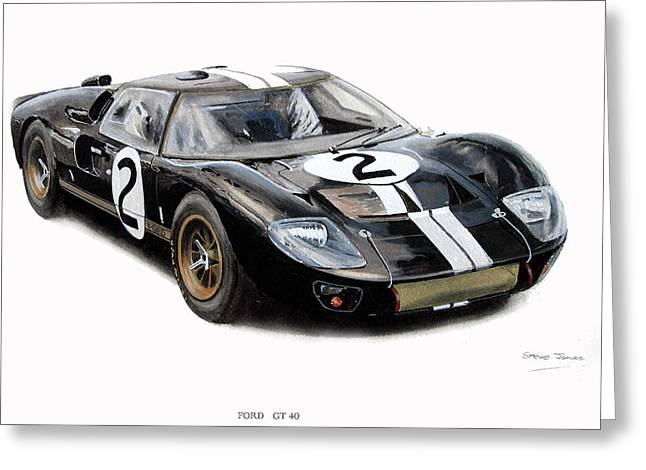 Ford Gt40 Greeting Card