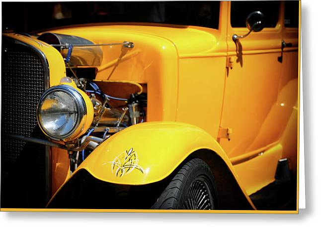 Greeting Card featuring the photograph Ford Hot-rod by Jeremy Lavender Photography