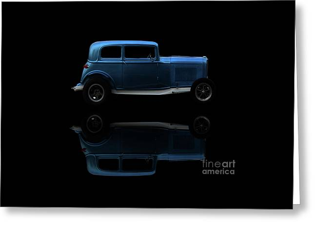 Ford Hot Rod Reflection Greeting Card