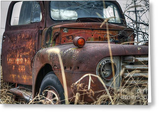 Ford In A Field Greeting Card by Larry Braun