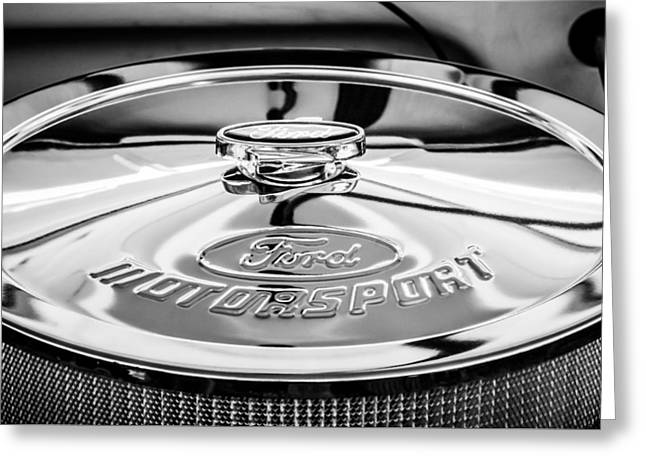 Ford Motorsport Engine -0530bw Greeting Card by Jill Reger