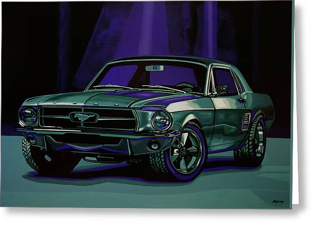 Ford Mustang 1967 Painting Greeting Card by Paul Meijering
