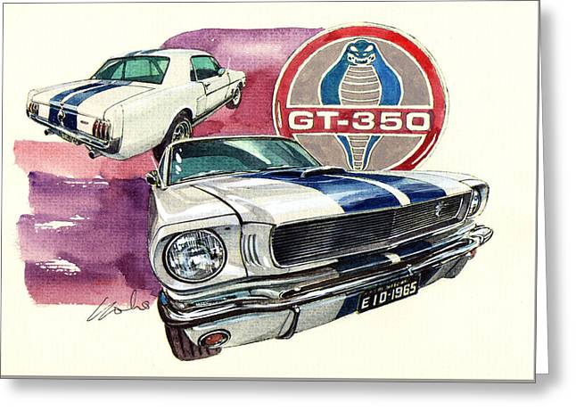 Ford Mustang Gt350 Greeting Card by Yoshiharu Miyakawa