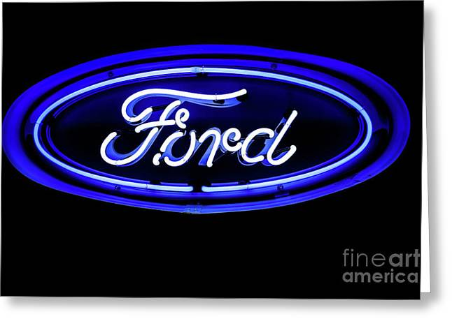 Ford Neon Sign Greeting Card