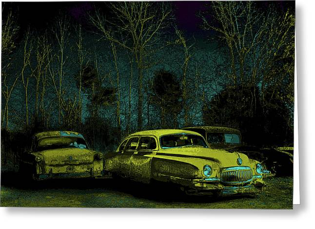 Ford-o-matic And Friends Greeting Card by David A Brown