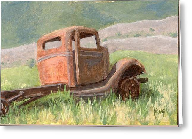 Ford On The Range Greeting Card