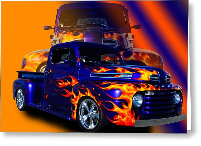 Ford Pick Up Truck Greeting Card by Jim  Hatch
