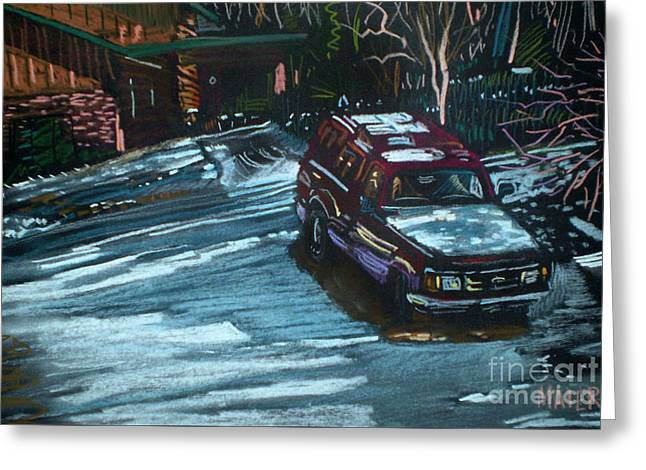 Ford Range In The Snow Greeting Card by Donald Maier