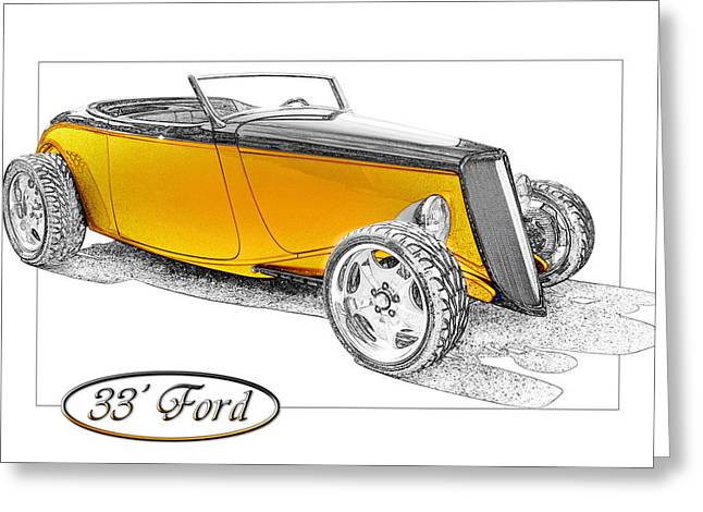 Ford Roadster Greeting Card by Michael Gass