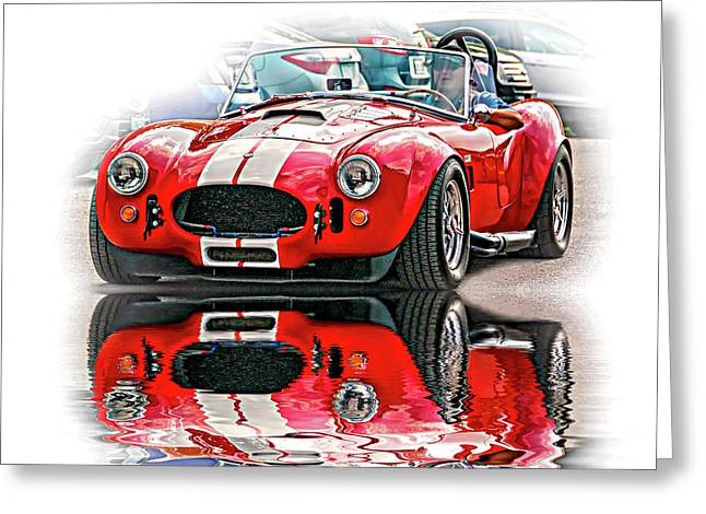 Ford/shelby Ac Cobra - Reflection Greeting Card