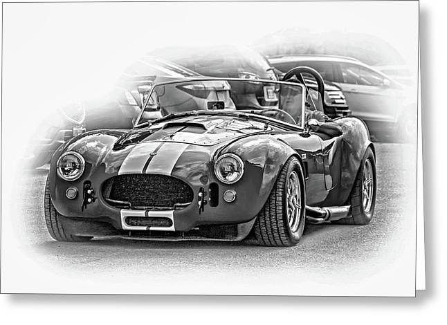 Ford/shelby Ac Cobra - Vignette Bw Greeting Card