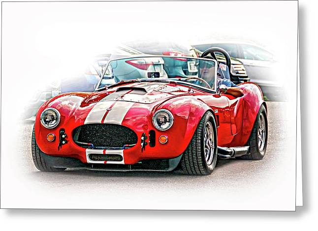 Ford/shelby Ac Cobra - Vignette Greeting Card