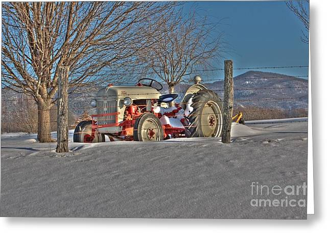 Ford Tractor Greeting Card by Todd Hostetter