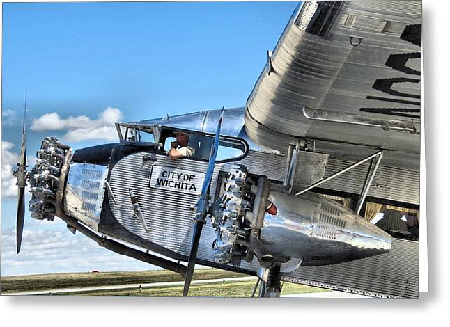 Ford Trimotor Greeting Card by Michael Daniels