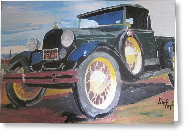 Ford Truck Greeting Card by David Poyant Paintings