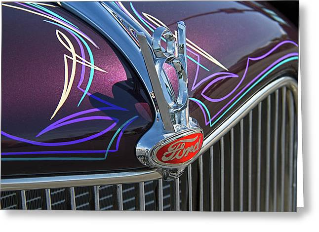 Ford V8 Hood Ornament Greeting Card