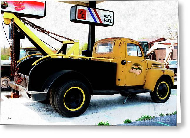 Ford Wrecker  Greeting Card by Steven Digman