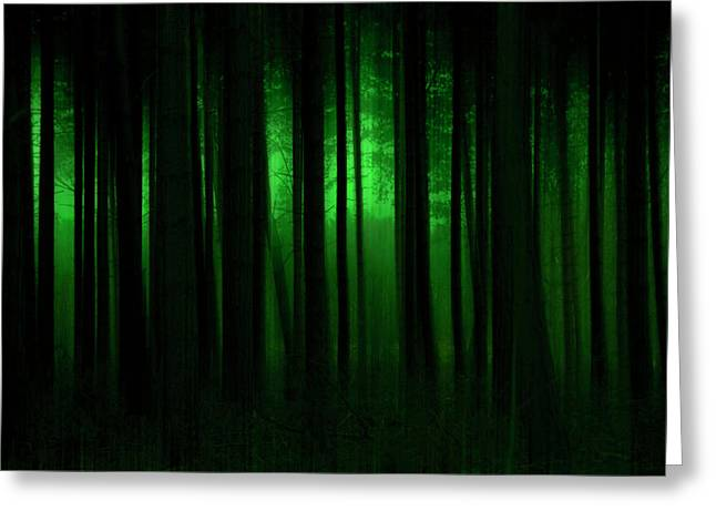 Fantasy Tree Art Greeting Cards - Forest Abstract03 Greeting Card by Svetlana Sewell