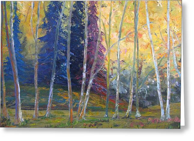 Forest At Twilight Greeting Card by Belinda Consten
