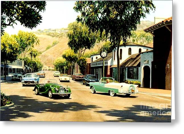 Forest Avenue At Glennerye Greeting Card by Frank Dalton