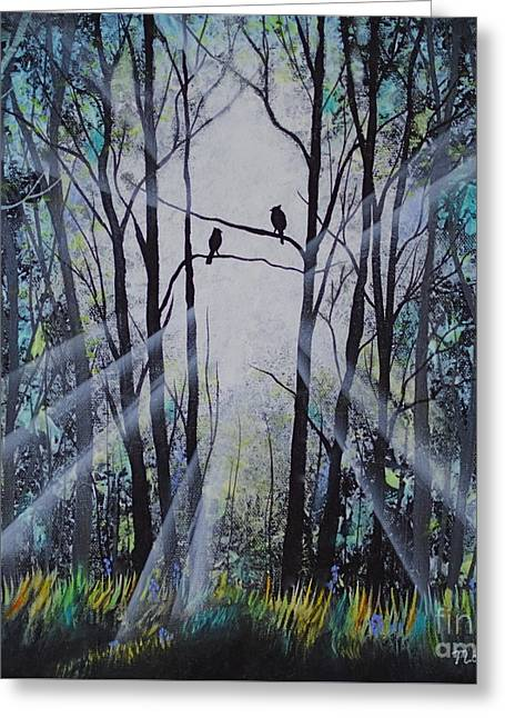 Forest Birds Greeting Card