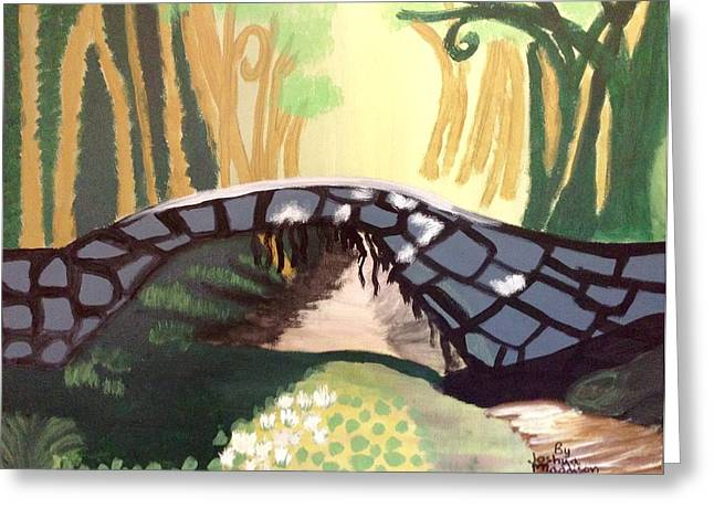 Forest Bridge Greeting Card