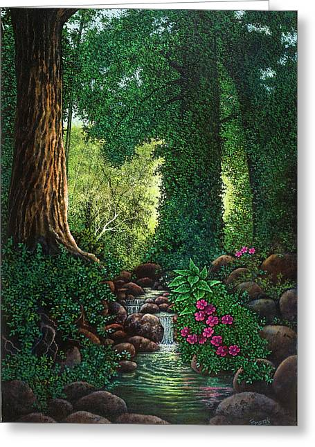 Forest Brook II Greeting Card by Michael Frank