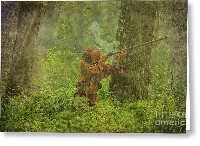 Greeting Card featuring the digital art Forest Clash by Randy Steele